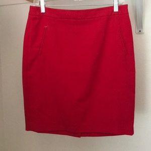 Red Loft straight skirt